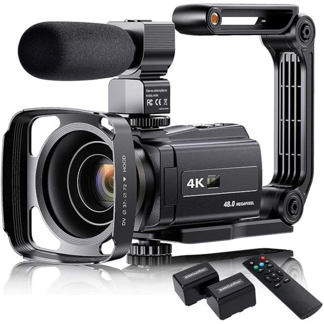 4K Video Camera Camcorder with Microphone