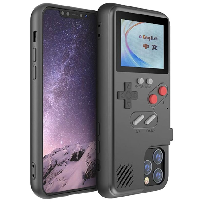 Gameboy Case for iPhone, Retro 3D Phone Case with 36 Classic Game