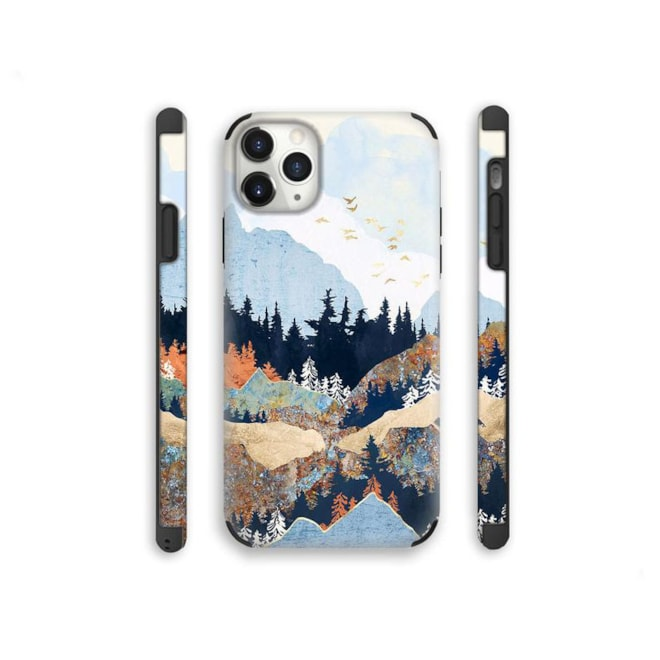 Gold Mountains and Wanderlust Art iPhone 12 case iPhone 12