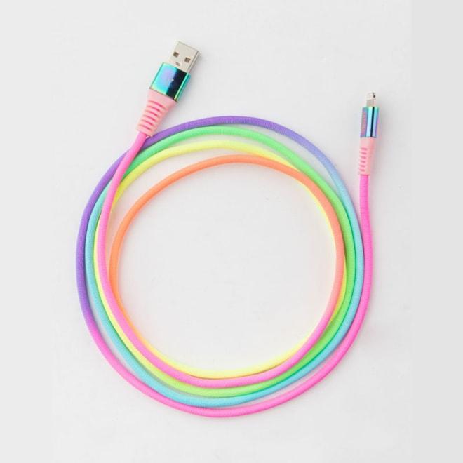 6 Foot Rainbow Lightning Cable