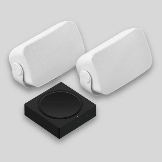 Sonos Weatherproof Outdoor Speaker Set & Amp