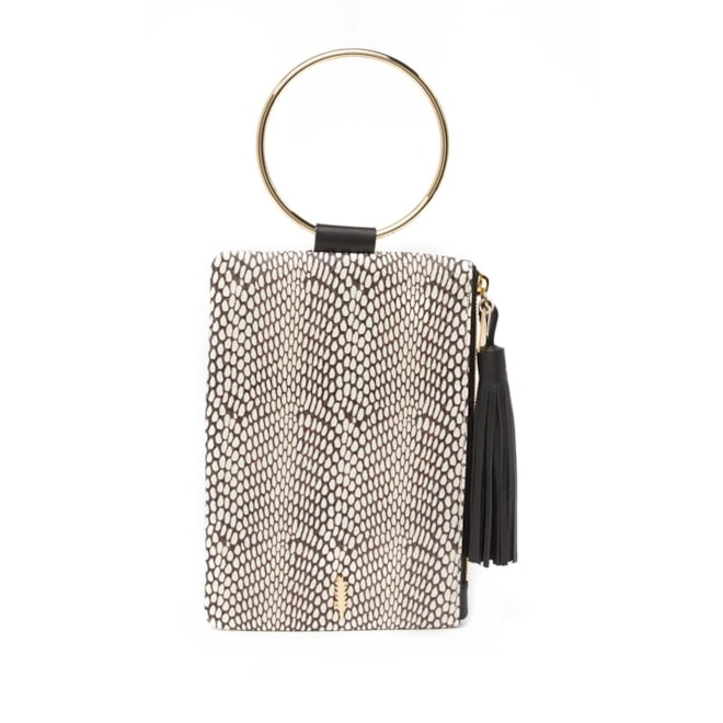 THACKER | Nolita Leather O-Ring Clutch