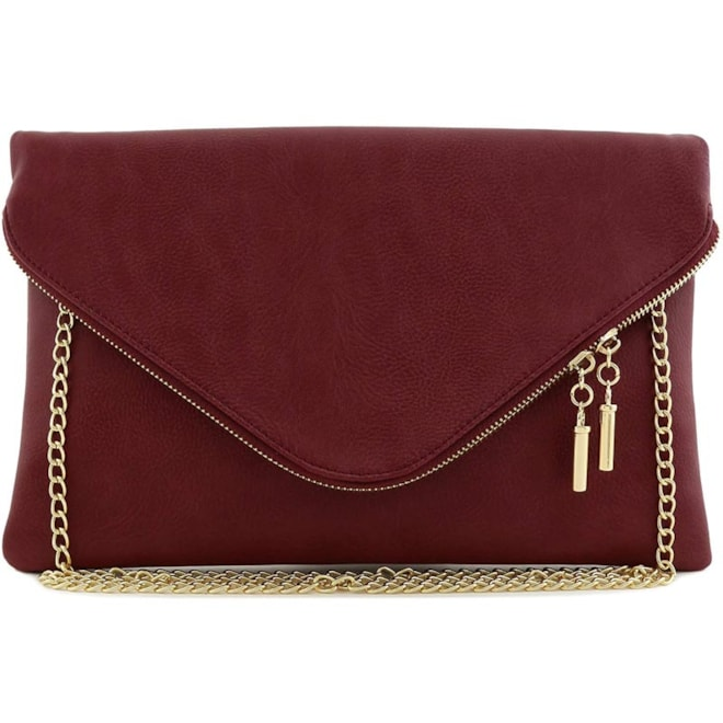 Large Envelope Clutch with Chain