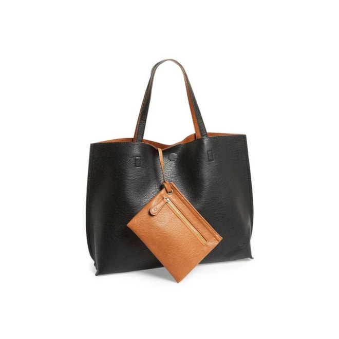 Street Level Reversible Tote & Wristlet