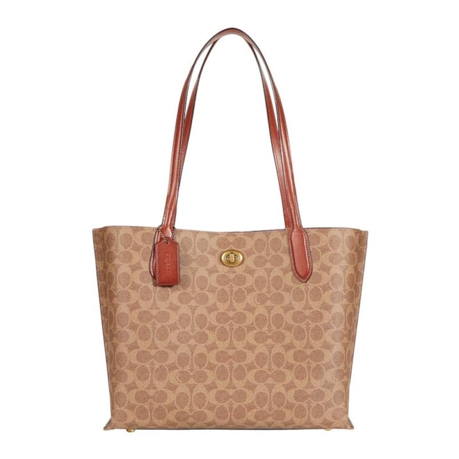 COACH Coated Canvas Signature Willow Tote