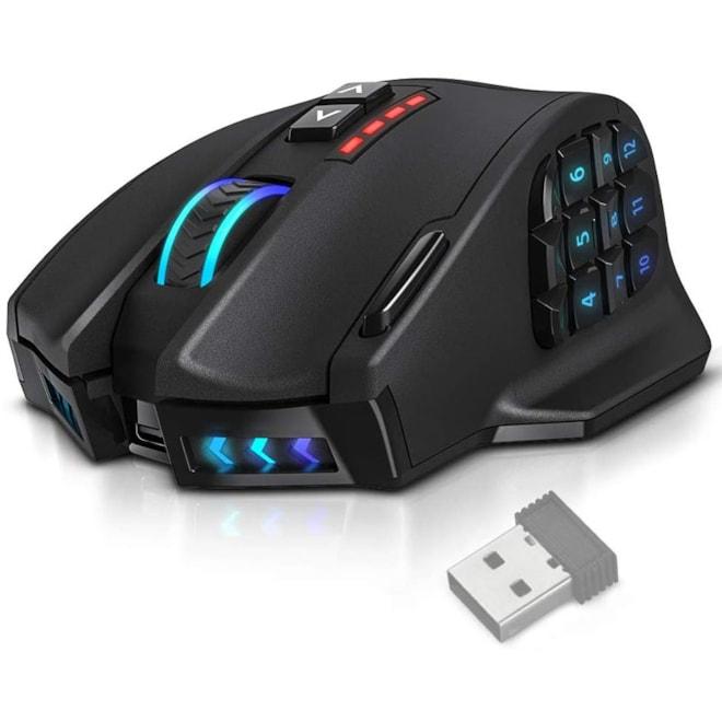 Wireless Gaming Mouse, 16,000 DPI Optical Sensor, 2.4 GHz transmission