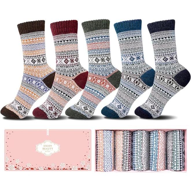 Womens Wool Socks in Gift Box