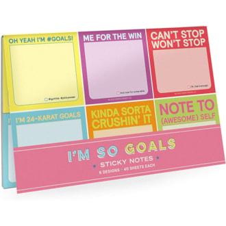 I'm So Goals Sticky Notes Set