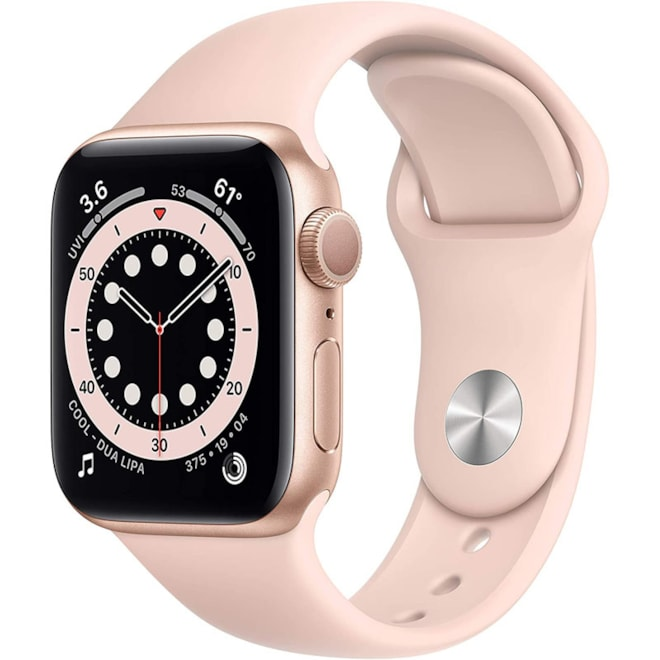 Apple Watch Series 6 (GPS, 40mm) - Gold Aluminum Case with Pink Sand Sport Band