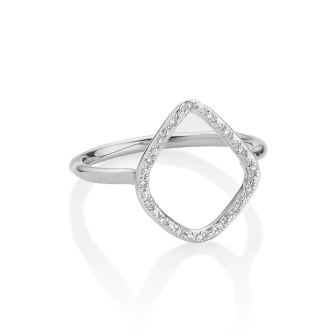 'Riva' Diamond Hoop Ring