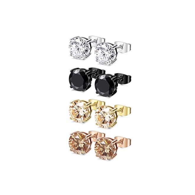 Stainless Steel Round Stud Earrings