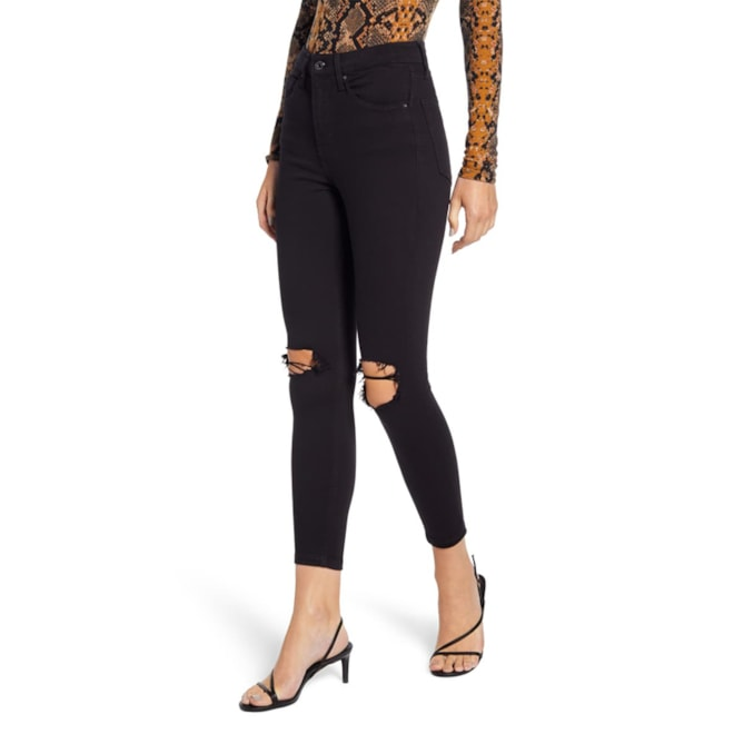 Topshop Jamie High Waist Ripped Jeans