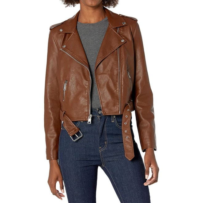 Levi's Women's Faux Leather Belted Jacket