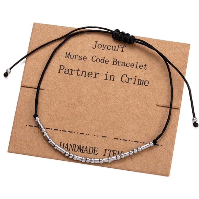 Partner in Crime Morse Code Bracelet