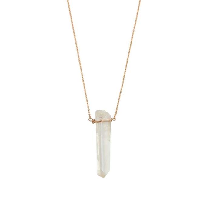 Long Stone Pendant Necklace