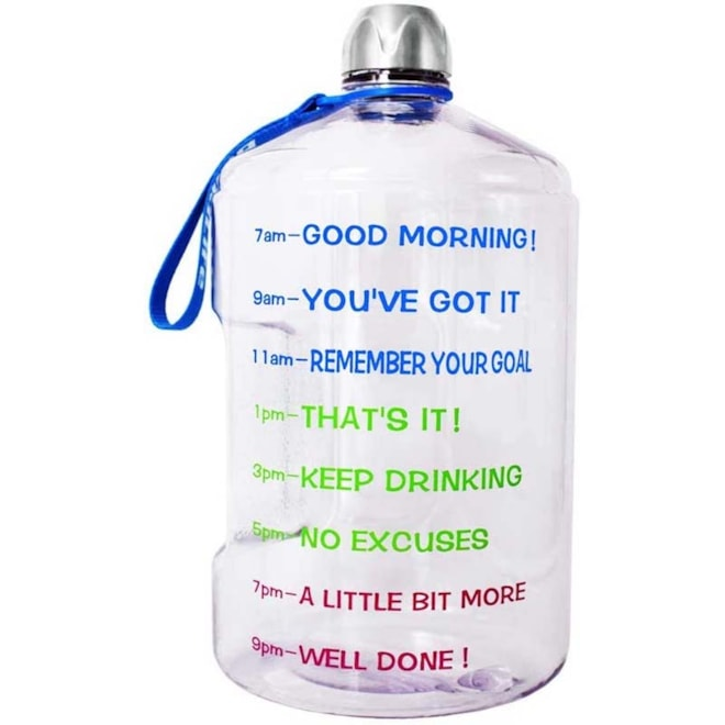 Gallon Water Bottle with Time Marker