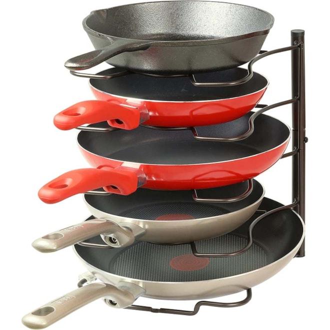 Pantry Pan and Pot Lid Organizer Rack