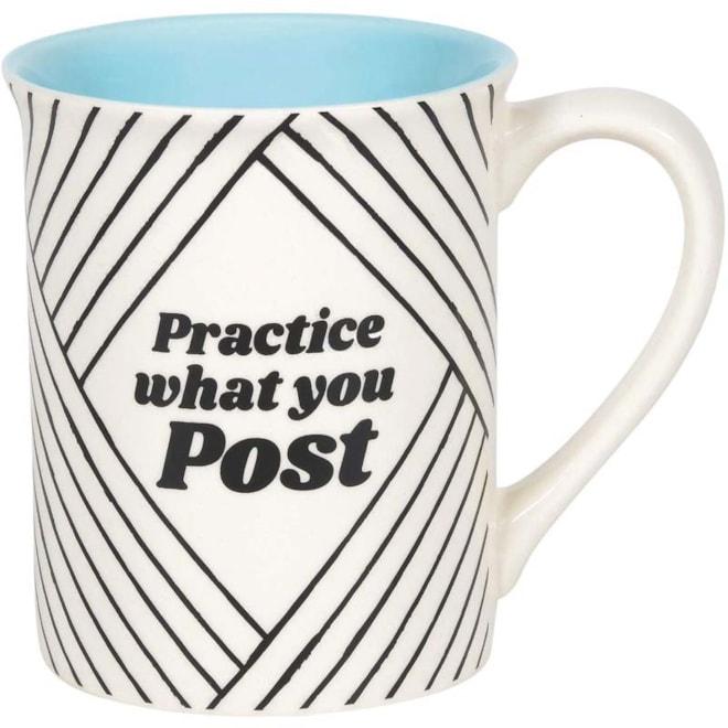 Practice What You Post Mug