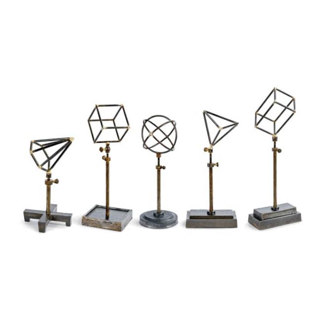 Set of 5 Geometric Sculptures