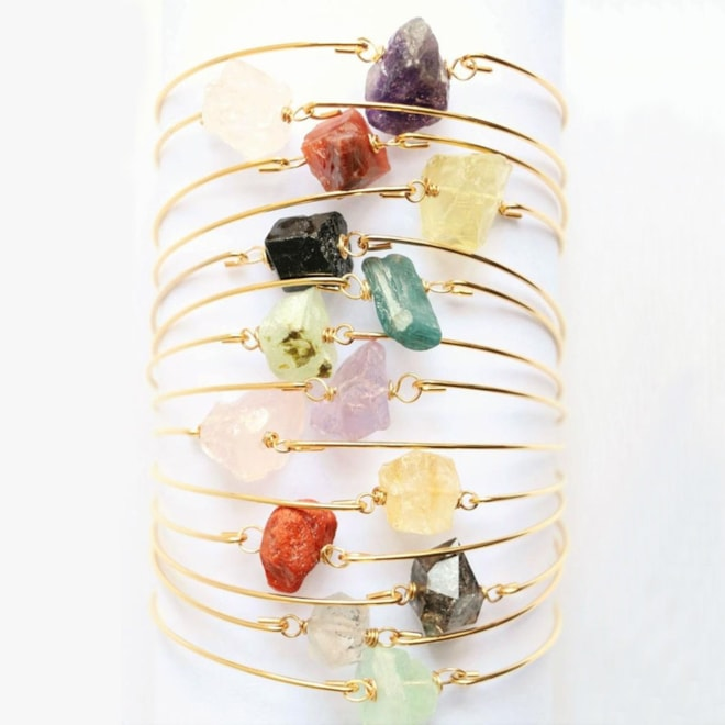 Raw Crystal Healing Stone Bracelet
