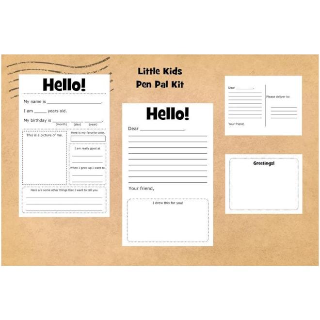 Little Kids Pen Pal Kit Writing Kit | Etsy