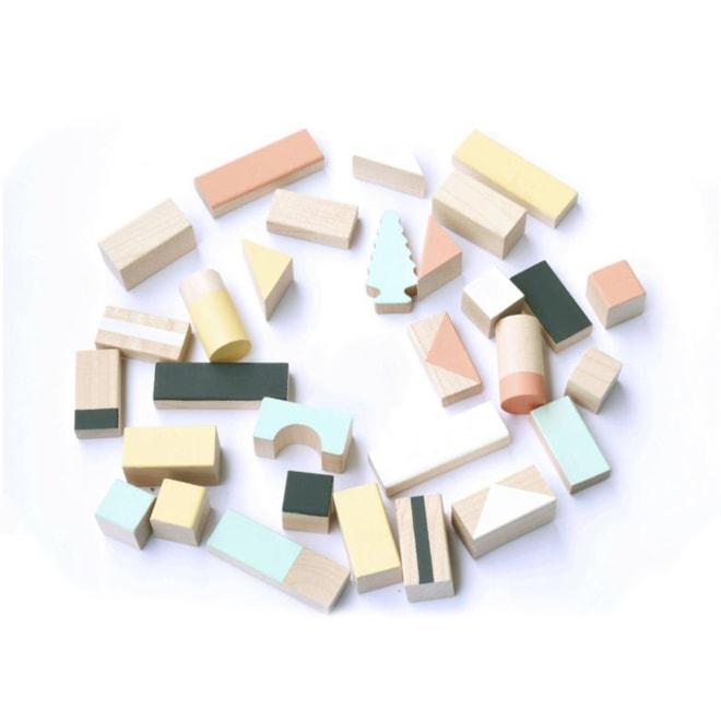 Wooden Blocks in Mixed Colors