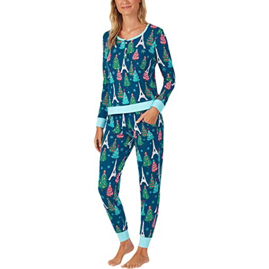 BedHead Pajamas Parisienne Holiday Henley Joggers