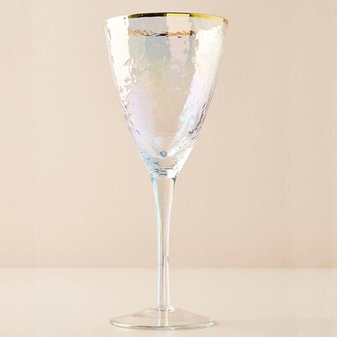 Lustered Wine Glasses, Set of 4
