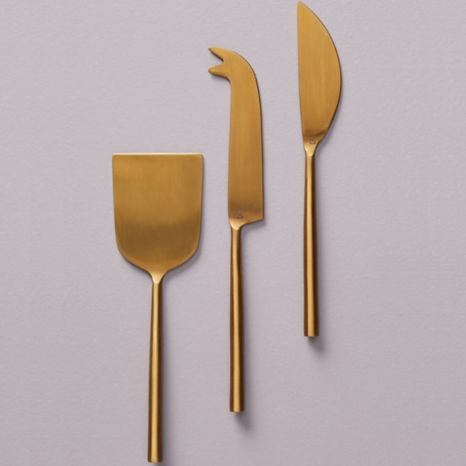 Streamlined Cheese Knives Set