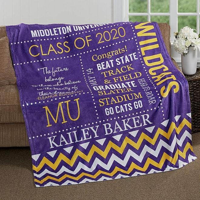 School Memories Fleece Blanket