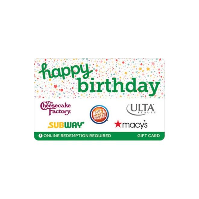 Swap Happy Birthday eGift Cards