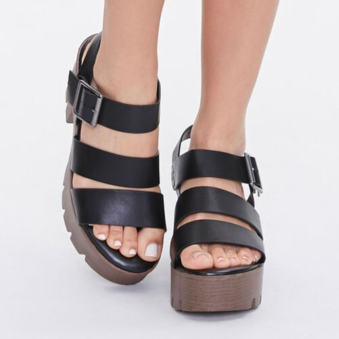 Chunky Platform Block Heels | Forever 21