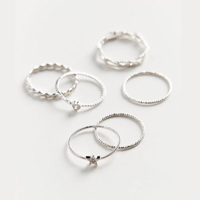 Natalia Charm Ring Set
