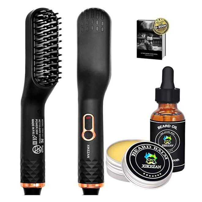 Beard Straightener With Balm