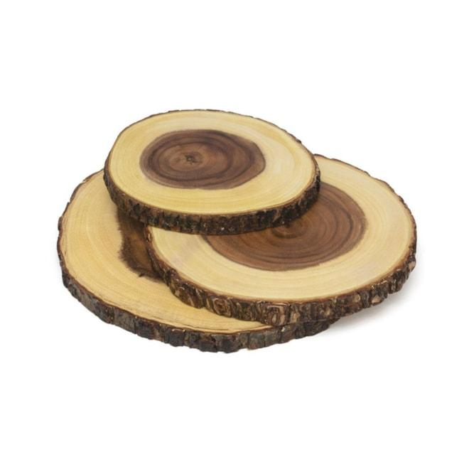 Lipper Acacia Wood Slab Set