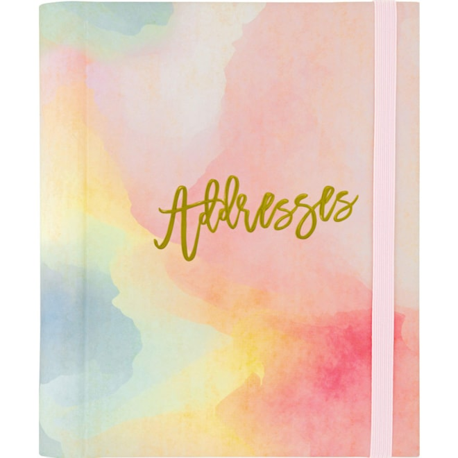 Watercolor Sunset  Large Address Book