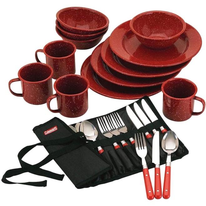 Coleman Enamelware Dining Kit