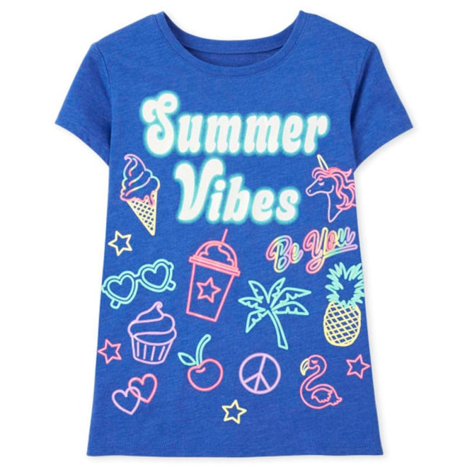 Short Sleeve 'Summer Vibes' Graphic Tee