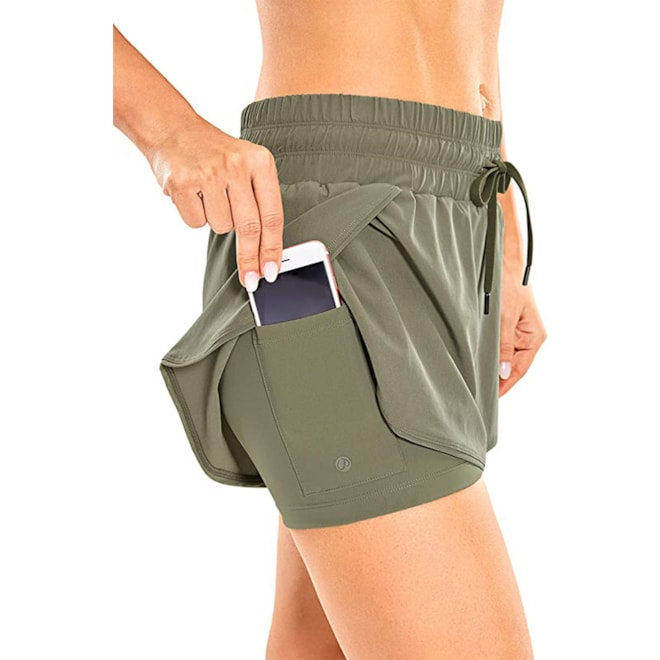 Athletic Sports Shorts with Zip Pocket