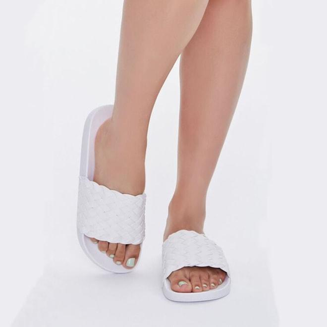 Basketwoven Slip-On Sandal