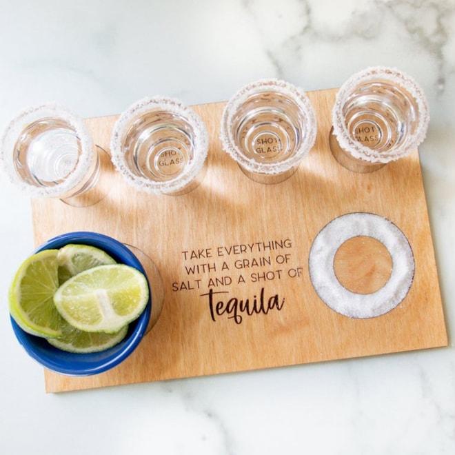 Tequila Flight Shot Board Personalized