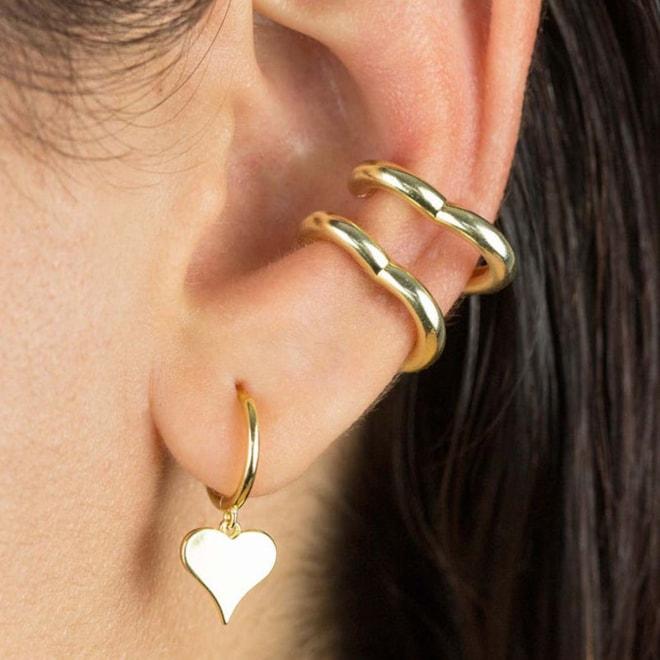 Adina's Jewels Open Heart Ear Cuffs   Nordstrom