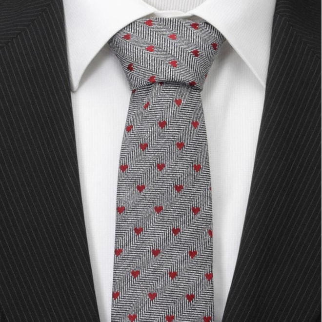 Cufflinks, Inc. Herringbone Hearts Linen Tie | Nordstrom