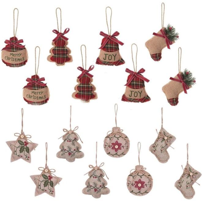 Burlap Hanging Ornaments