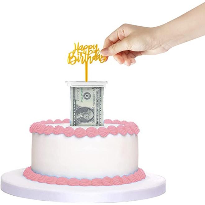 Money Pull Out Cake Topper Kit