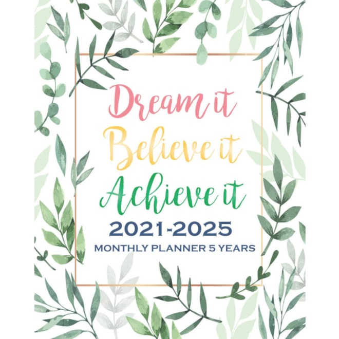 2021-2025 Monthly Planner 5 Years