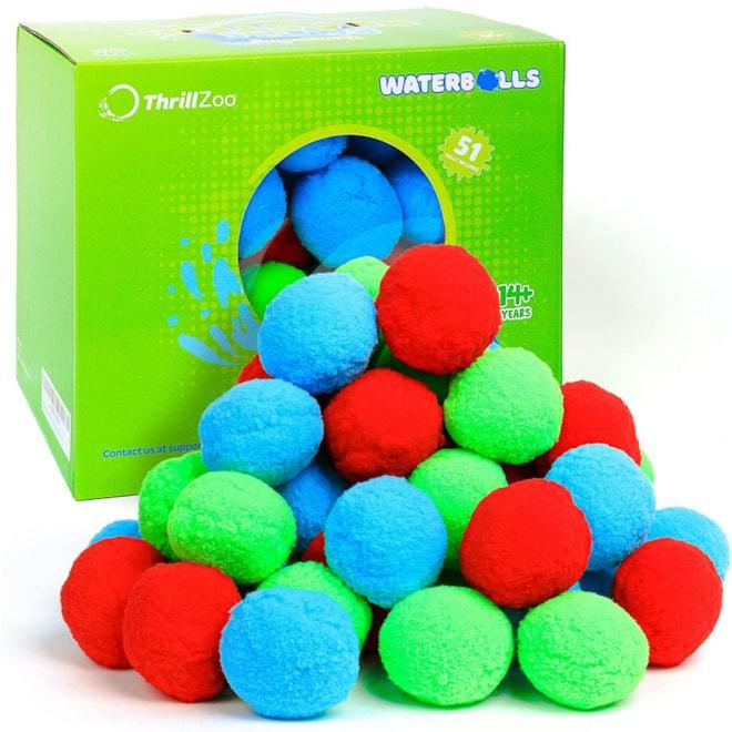 51 Reusable Water Balls | Water Balloons for Kids Teens