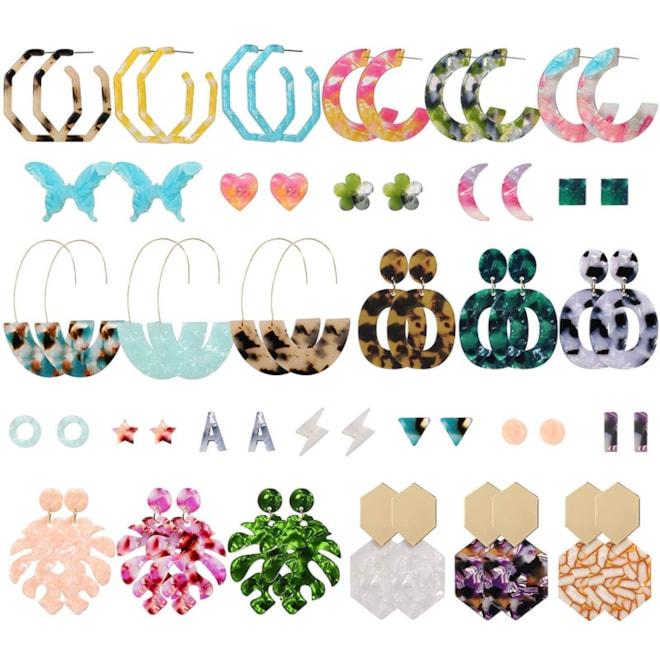 Acrylic Earrings for Women, Funtopia 30 Pairs