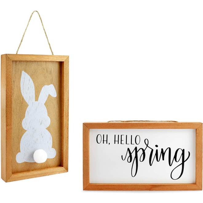 AuldHome Spring Wood Signs