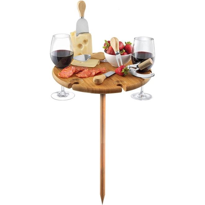 Bamboo Wine Table Cheese Board